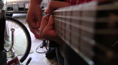 Guitar Neck Sliding Focus  Stock Footage