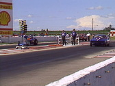 Stock Video Footage of motorsports, drag racing,  ET class race Camaro vs altered