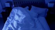 Restless sleeper, trouble sleeping timelapse Stock Footage