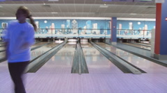 bowling - stock footage
