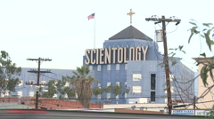Scientology building in Los Angeles (5) - stock footage