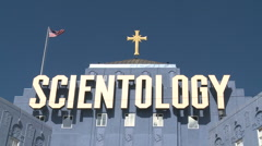 Scientology building in Los Angeles (7) - stock footage