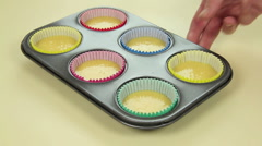 Baking Cup Cakes Stock Footage