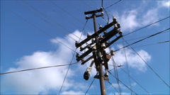Electric pillar Stock Footage