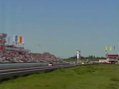 Moottoriurheilu, Drag Racing, Top Alcohol hauska kilpa yläpäässä, erittäin nopea Arkistovideo