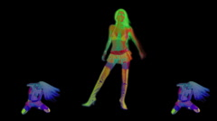 Sexy Female Dancer Stock Footage