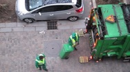 Stock Video Footage of Paris Garbagemen