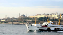 Cruising on front of Istanbul Stock Footage