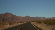 Road in Death Valley Stock Footage