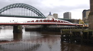 Stock Video Footage of Swing Bridge and Tyne Bridge Newcastle
