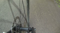 Bicycle Wheel and Spokes Stock Footage