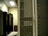 Data center tracking Stock Footage