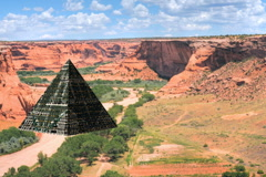 pyramid canyon is - stock footage