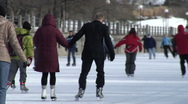 Stock Video Footage of Rideau Canal- Ottawa- skating1