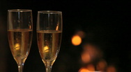 Flutes with champagne Stock Footage