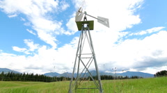 Windmill in summer Stock Footage