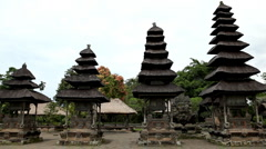 Pura Taman Ayun Royal Temple, Mengwi Village, Badung Regency, Bali, Indonesia Stock Footage
