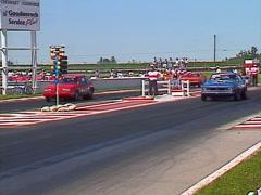 Motorsports, drag racing, stock eliminator race  Stock Footage