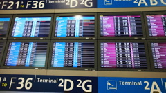 Large number of information boards Stock Footage