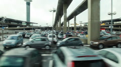 Large car parking at airport Stock Footage