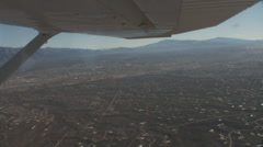 Looking over Tucson in eastward direction towards the Rincon Mountains Stock Footage