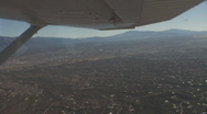 Stock Video Footage of Looking over Tucson in eastward direction towards the Rincon Mountains