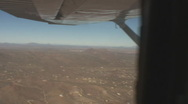 Stock Video Footage of Looking towards the far west from a bird's eye view in the Sonora Desert