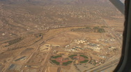 Stock Video Footage of Aerial of baseball fields near the water treatment plant west Tucson