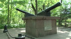 Monument Guns in Lipetsk Stock Footage