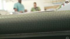 Letters on a conveyor belt Stock Footage