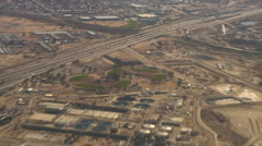 Aerial view of the I-10 widening after completion in Tucson Stock Footage