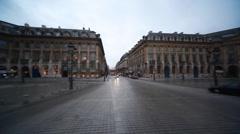 Place Vendome in Paris evening Stock Footage