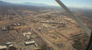 Stock Video Footage of Aerial view of I-10 with zoom in
