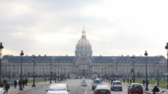 State Les Invalides in Paris Stock Footage