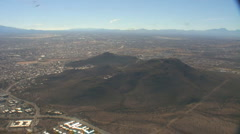 Aerial view heading south with wide zoom out looking south towards Nogales Stock Footage