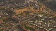 Stock Video Footage of Aerial view of the Marriot resort in Tucson with golf course zoom in