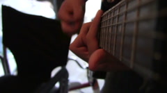 POV Guitar Neck Stock Footage