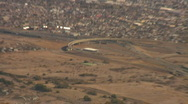 Stock Video Footage of Aerial view the I-10 and I-19 intersection in Tucson