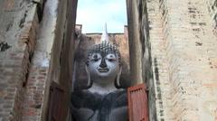 Stone Buddha Stock Footage