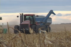 Corn Combine Farming Stock Footage