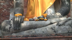 Sitting Buddha in Thailand   Stock Footage