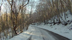 Trip by car in winter - stock footage