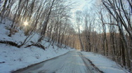 Stock Video Footage of Journey to the snowy road