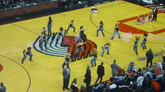 NBA Basketball Halftime Performance Stock Footage