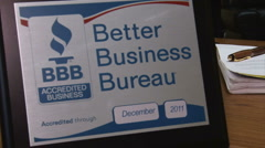 Better Business Bureau (Left to Right) Stock Footage