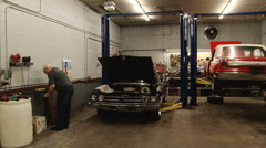 Garage Auto Shop Stock Footage