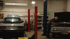 Automotive Shop - stock footage