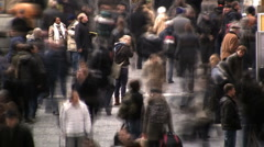 Crowded city street time lapse  Stock Footage