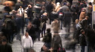 Stock Video Footage of Crowded city street time lapse