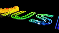 Playing Music Title - Equalizer 105 (HD) Stock Footage